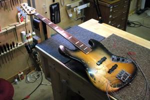 1968 Fender Jazz Bass Neck Work